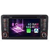 Android 10 Octa-Core 4GB RAM+64GB ROM Carplay+Android Auto DSP Autoradio DVD GPS Navigation Navi Radio Bluetooth DAB+ WiFi OBD 4G LTE TPMS Lenkrad IPS...