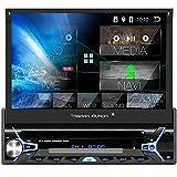 Tristan Auron BT1D7022A Android 10 Autoradio I 7'' Touchscreen ausfahrbar I CD DVD GPS Navi 32GB Bluetooth Freisprecheinrichtung I USB SD OBD DAB+ 1...