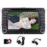 8GB europäische Karten-Karte als Geschenk, Eincar Doppel-DIN-Autoradio Bluetooth 7' Touch Sreen Head Unit für VW Golf 5 6 POLO JETTA TOURAN EOS...