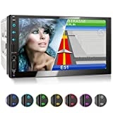 XOMAX XM-2VN751 Autoradio mit Mirrorlink, GPS Navigation, Navi Software, Bluetooth Freisprecheinrichtung, 7 Zoll / 18cm Touchscreen Bildschirm, FM...