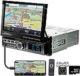 Autoradio mit Bluetooth GPS - 1 Din Car MP5 Player mit Bildschirm 7 '' HD-Touchscreen Unterstützt Mirrorlink/FM/USB/AUX/TF, mit Rückfahrkamera +...