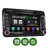 XOMAX XM-10GA Autoradio mit Android 9.0 passend für VW SEAT Skoda, 2GB RAM, 32GB ROM, GPS Navigation, DVD, CD, USB, SD I Support: WiFi 4G, DAB+, OBD2...