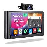 2 Din Display Radio Android - Doppel Din Autoradio mit Rückfahrkamera Navi Bluetooth Freisprecheinrichtung 7Zoll Touchscreen Bildschirm Moniceiver...