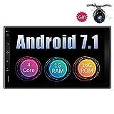 Eunavi Double Din Quad Core 7 Zoll Android 7.1 1G + 16G Universal-Autoradio mit Bluetooth 2 Din im Dash-Auto GPS-Navigation Voller...