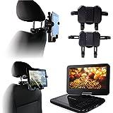 Navitech Im Auto Portabel DVD-Player Kopfstütze/Kopfstütze Halterung/Halter für die Autoradio 2DIN creatone vw8000 8'