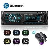 Autoradio mit Bluetooth Freisprecheinrichtung, 1 Din Stereo Auto Radio 4 x 60W FM Radio Sopport MP3 / AM/USB/WMA/WAV/TF-Media Player + Fernbedienung
