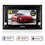 NEOTONE NDX-300W | Navigation mit Europakarten | universelles 2DIN Autoradio | 6.2 Zoll | Radarwarnsystem | Bluetooth | Touchscreen | DVD-Player |...