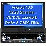 Tristan Auron BT1D7022A Android 10.0 Autoradio I 32GB ROM I 7'' Touchscreen I GPS Navi I Bluetooth Freisprecheinrichtung I USB SD OBD 2 DAB Plus I 1...