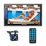 GRUNDIG Doppel DIN Bluetooth Autoradio mit Rückkamera Mikrofon, 7 Zoll Touchscreen Autoradio mit Mirrorlink für Android, IOS, MP5-Player Media...