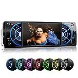 XOMAX XM-VRSU412BT Autoradio / Moniceiver mit Bluetooth Freisprecheinrichtung & Musikwiedergabe + 7 Farben einstellbar (blau, türkis, weiß, grün,...