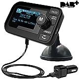 FirstE Auto DAB+ Radio Adapter, 2,3' LCD Tragbares Autoradio DAB mit FM Transmitter+ Bluetooth Freisprecheinrichtung MP3 Player, DAB Digital Radio...