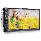XOMAX XM-2V719 Autoradio mit Mirrorlink für Android, Bluetooth Freisprecheinrichtung, Anschluss für externes Mikrofon, 7 Zoll / 18cm Touchscreen...