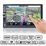 Autoradio GPS Navigation, HALUM Wince 7'' 1080P Touchscreen 2 DIN, Mirrorlink/Bluetooth Freisprecheinrichtung/7 LED Beleuchtungsfarbe/RDS, mit...