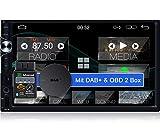 Tristan Auron BT2D7025A Android 10.0 Autoradio + DAB Plus Box OBD 2 Box - 7'' Touchscreen Bildschirm I Bluetooth Freisprecheinrichtung GPS Navi USB SD...