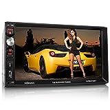 XOMAX XM-2VRSU723BT Autoradio / Moniceiver mit Bluetooth Freisprecheinrichtung & Musikwiedergabe + 7' Zoll / 18 cm Touchscreen...