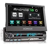 XOMAX XM-VA774 Autoradio mit Android 10, QuadCore, 2GB RAM, 32GB ROM, GPS Navigation I Support: WiFi WLAN, 3G 4G, DAB+, OBD2 I Bluetooth, 7 Zoll / 18...