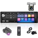 Bluetooth Autoradio 1 Din Podofo 4,3 Zoll Touchscreen FM Spiegel Link Dual-USB TF-Karte Aux-In Auto Stereo Videoplayer +Rückfahrkamera+Externes...
