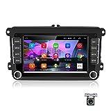 Android Autoradio für VW GPS Autoradio Bluetooth/WiFi/FM/AUX/USB, Multimedia-Radio für Unterhaltungsautomatik mit Mirrorlink für VW + 12...