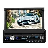 Hakeeta Autoradio, autoradio mit ausfahrbarem Display, 7'' Touchscreen Bildschirm Ausfahrbar, Lenkradsteuerung, Bluetooth Freisprecheinrichtung, RDS,...