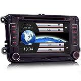 iFreGo 7 Zoll 2 Din Autoradio Für VW Golf 5/6,Für Skoda,Für SEAT, Für Sharan, GPS Navigation,DVD CD Player,Autoradio Bluetooth,unterstützt...