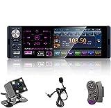 Single Din Auto Stereo Radio, 12V 4,1' Auto MP5 Player mit Bluetooth Audio & Hands-Free Calling, FM Receiver USB/AUX-in/SD Kartenanschluss + Steuerung...