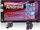 Android Autoradio - 2din Autoradio mit Bluetooth Freisprecheinrichtung/GPS Navi / Rückfahrkamera, 7 Zoll Touchscreen Multimedia Player mit Mirrorlink...