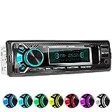 XOMAX XM-R266 Autoradio mit Bluetooth Freisprecheinrichtung I Smartphone Ladefunktion über 2. USB Anschluss I Carbon Optik I 7 LED Farben einstellbar...