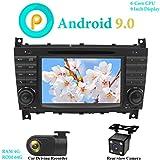 XISEDO 7' Android 9.0 Autoradio In-Dash Car Radio 6 Core RAM 4G ROM 64G Autonavigation mit DVD Player für Mercedes-Benz C Class W203/ Benz CLK W209...