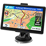 GPS Navi Navigationsgerät für Auto, Navigation für Auto PKW LKW Navi 7 Zoll Lebenslang Kostenloses Kartenupdate Navigationssystem mit POI...