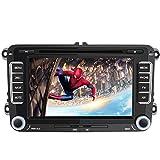 AWESAFE Autoradio mit Navi für Volkswagen Seat und Skoda, 2 Din Radio mit 7 Zoll Touchscreen Monitor, unterstützt Lenkradsteuerung Mirrorlink...