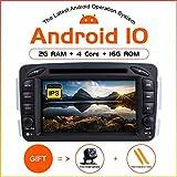 ZLTOOPAI Android 10.0 Autoradio für Mercedes Benz W209 / W203 / W168 / W163 / W463 / Viano / W639 / Vito/Vaneo 1998-2006 Audio GPS...
