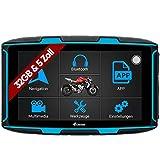 Elebest Navigationsgerät Rider A6 Pro, Navigation für Motorrad und PKW, 5 Zoll Bildschirm Android 6.0 - Bluetooth W-LAN Wasserdicht 32 GB Speicher...