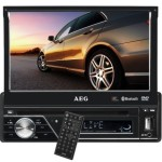 AEG AR 4026 Autoradio (DVD/CD, 17,5 cm (7 Zoll) LCD-Display, Touchscreen, SD Kartenslot, USB) schwarz