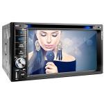 XOMAX XM-2DTSBN6216 Autoradio / Moniceiver / Naviceiver mit GPS Navigation + NAVI Software inkl. Europa Karten (50 Länder) + Bluetooth Freisprechfunktion 6,2 + USB + SD+ AUX + 2 DIN (Doppel DIN) Standardeinbaugröße inkl. Fernbedienung, Einbaurahmen